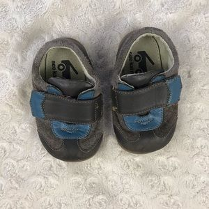 See Kai Run Baby Boy Shoes Blue Brown Size 4